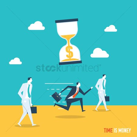 Productivity : Time is money concept