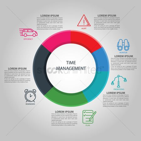 Time : Time management infographic