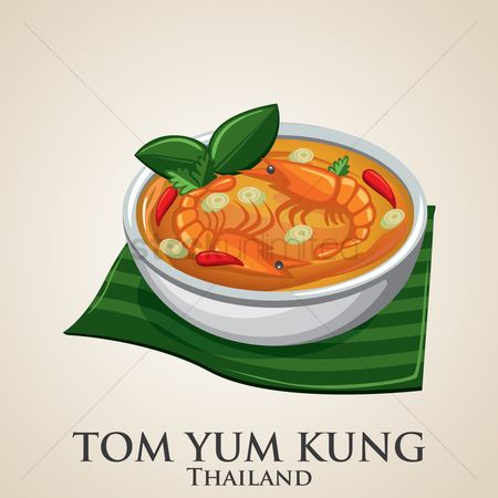 Dishes : Tom yum kung thai dish