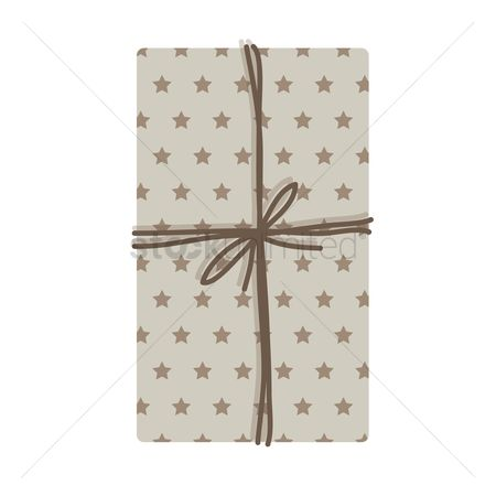 Luxuries : Top view of a gift box tied on white background