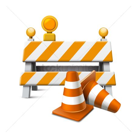 Cones : Traffic road equipment
