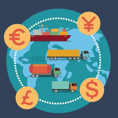 Lorries : Transports with different currency