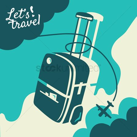 Handles : Travel concept with luggage bag