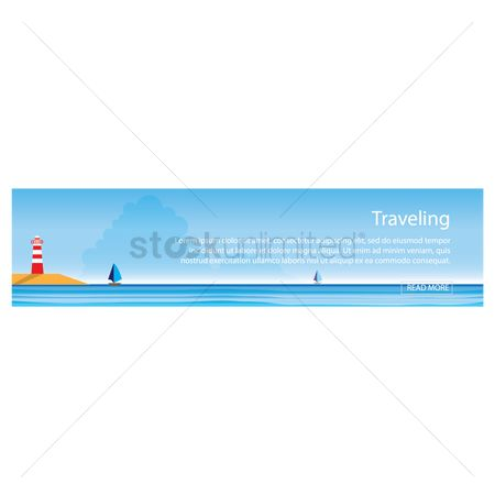 Lighthouses : Traveling banner