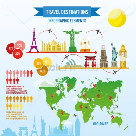 Map pointer : Travelling infograph