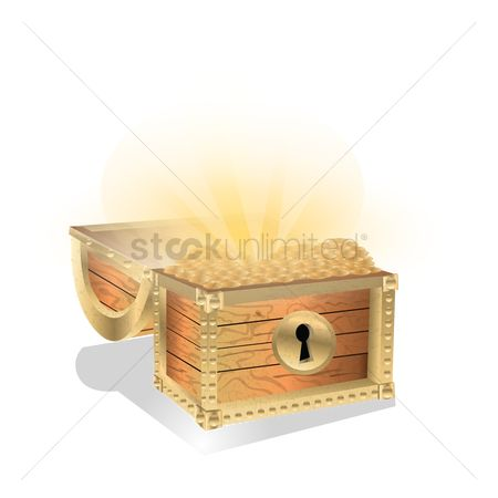 Coins : Treasure chest with gold coins