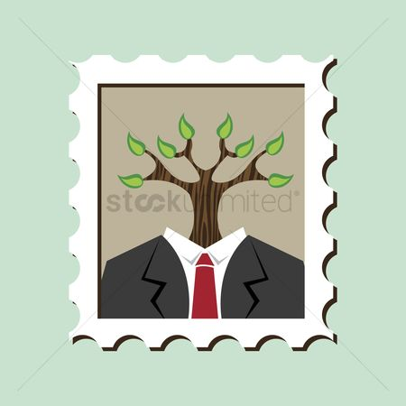 Agents : Tree growing from business suit