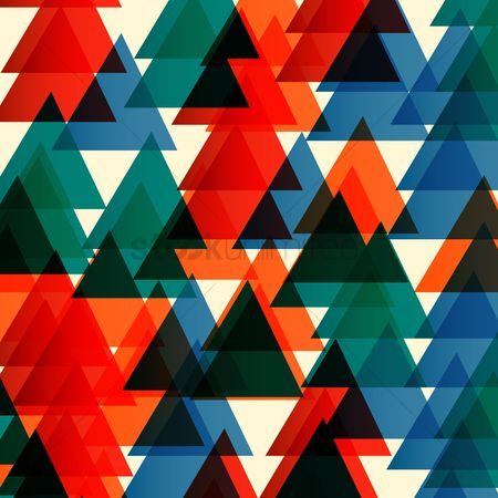 Red : Triangle patterned background