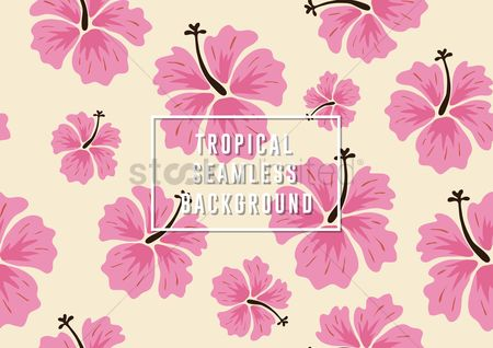 Patterns : Tropical seamless background
