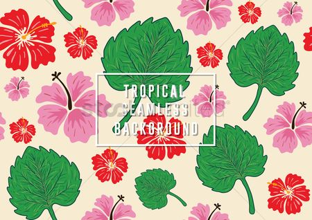 Wallpaper : Tropical seamless background