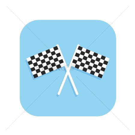 Formulas : Two crossed checkered flags