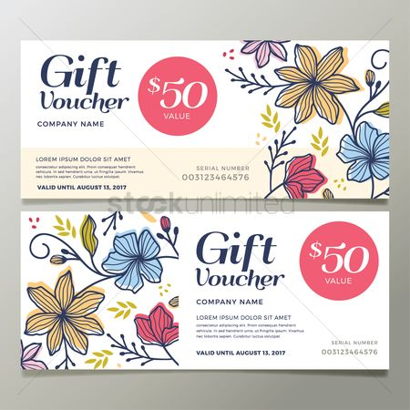 Fonts : Two gift vouchers