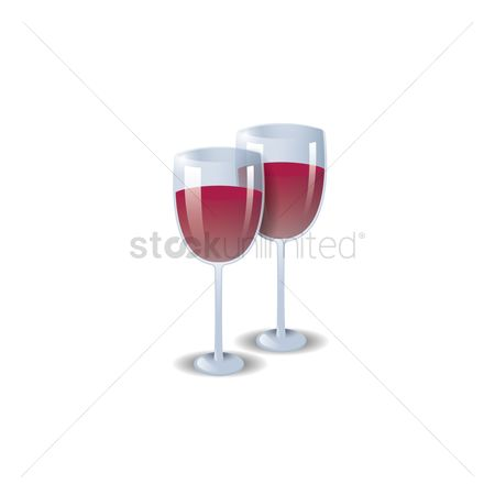 Red wines : Two glasses of wine