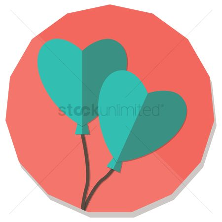 Heart : Two heart shape balloons