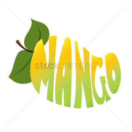 Mangoes : Typography of the word mango