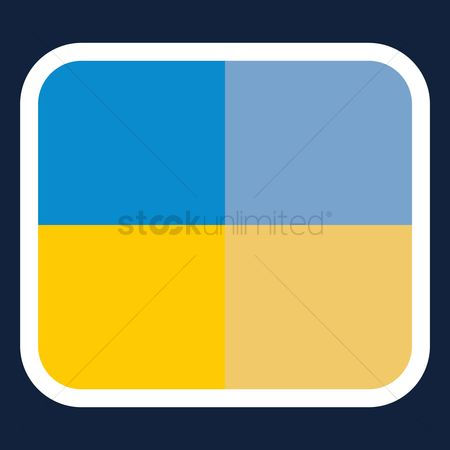 Ukraine : Ukraine flag sticker