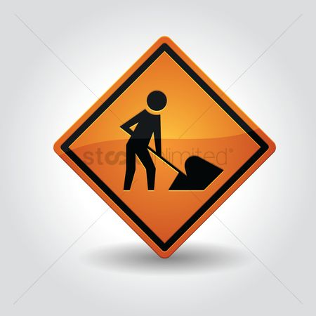 Roadsigns : Under construction sign