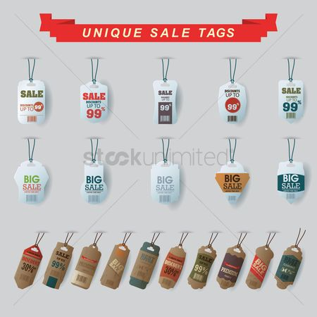 Sale : Unique sale tags set