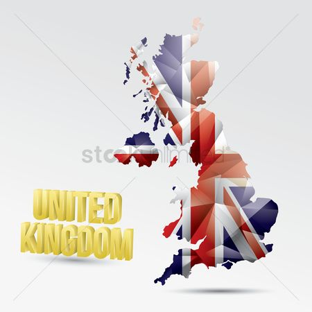 Jack : United kingdom flag map