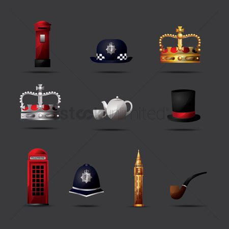 Silver : United kingdom icon set