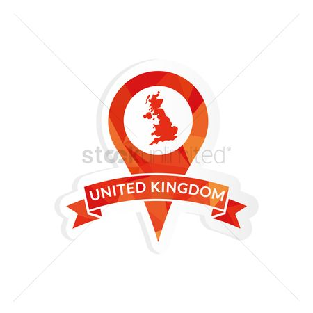 Navigators : United kingdom map pointer sticker