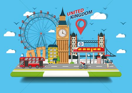 Map pointer : United kingdom wallpaper