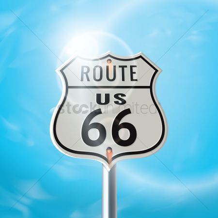 Roadsigns : Us 66 route sign