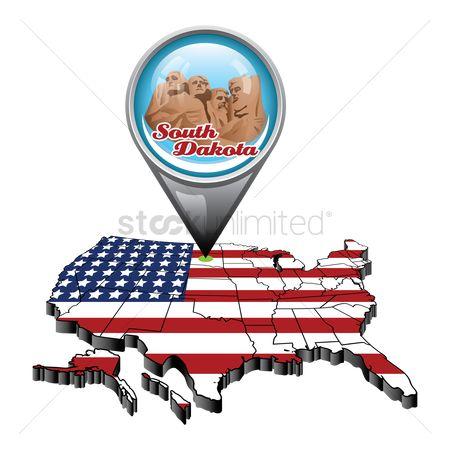 Free Mount Rushmore Stock Vectors StockUnlimited - South dakota us map