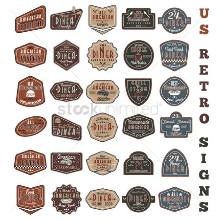 Junk food : Us retro sign