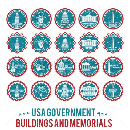 White house : Usa government building and memorial collection