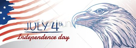 Month : Usa independence day banner