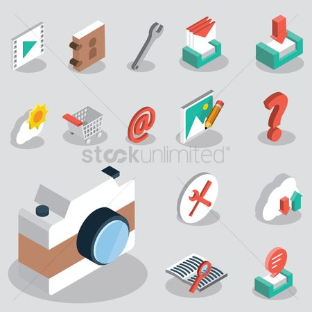 Email : User interface icon set