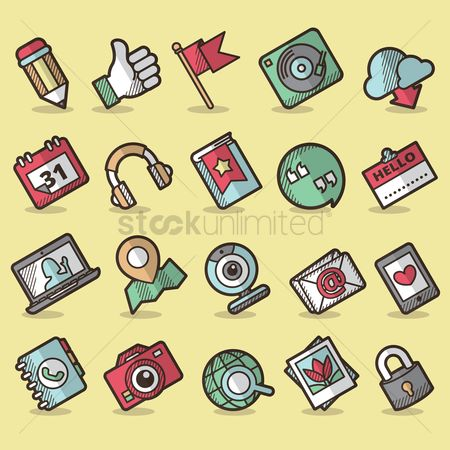 Map pointer : User interface icon set