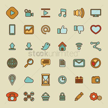 Comment : User interface icon set