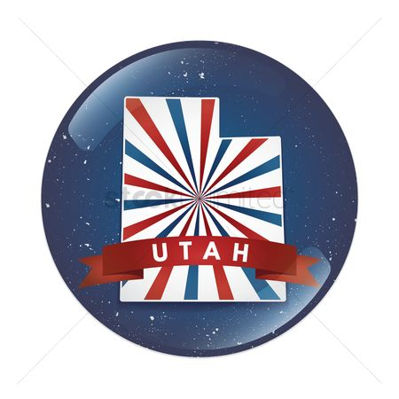 Utah map : Utah map button
