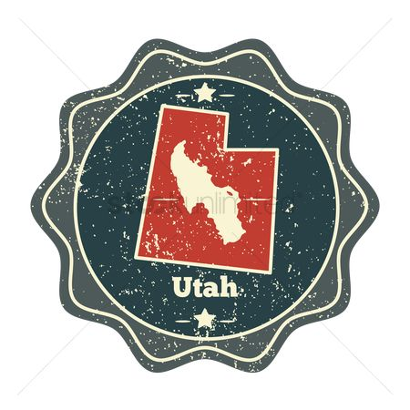 Great salt lake : Utah map label