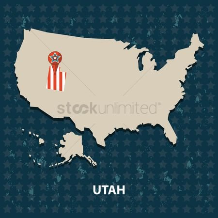 Utah map : Utah state on the map of usa