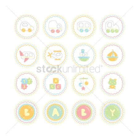 Jigsaw : Various baby theme icons