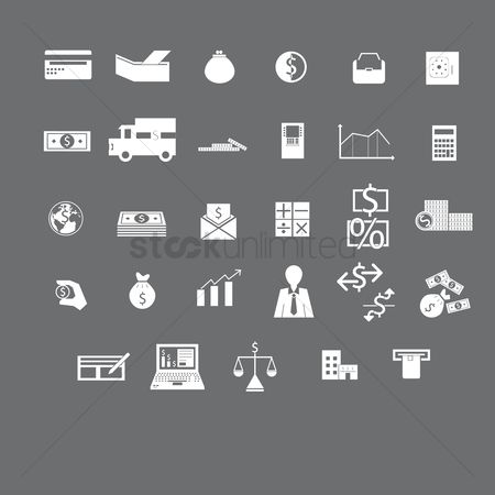 Managers : Various banking and finance icons