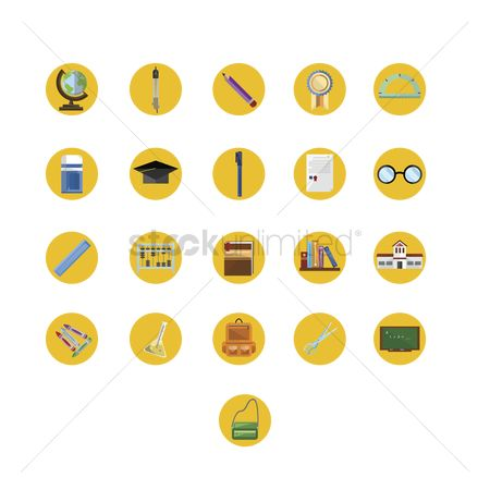 Crayons : Various education icons