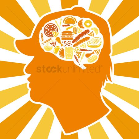 Croissant : Various food in brain