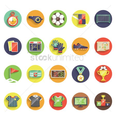 Broadcasting : Various football theme icons