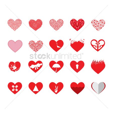 Heart shape : Various forms of heart