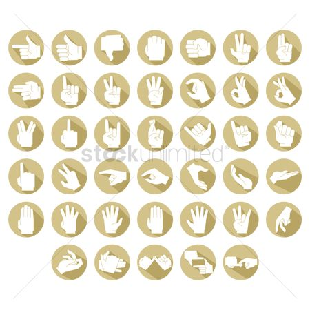 Signs : Various hand gestures