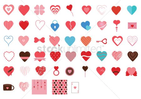 Heart shape : Various heart icons