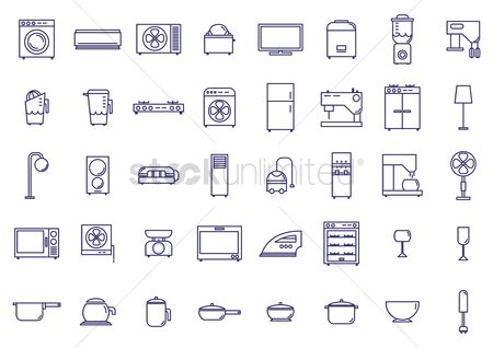 Conditioning : Various home appliances and household items