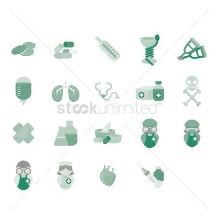 Drips : Various medical icons