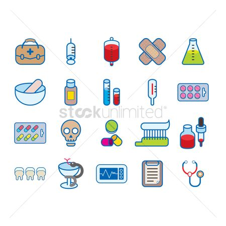 Cup : Various medical icons