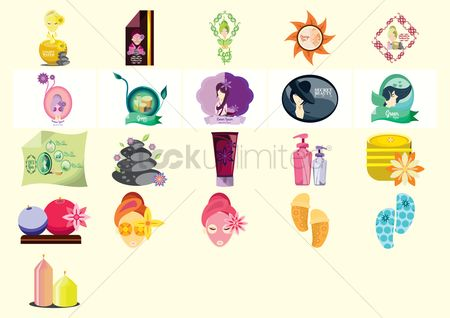 Slippers : Various spa icons