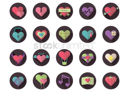 Heart : Various valentine icons
